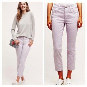 Pilcro Jeans Stet Crop Capri Ankle 27 Purple